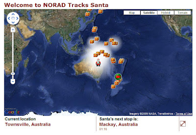 norad santa tracking