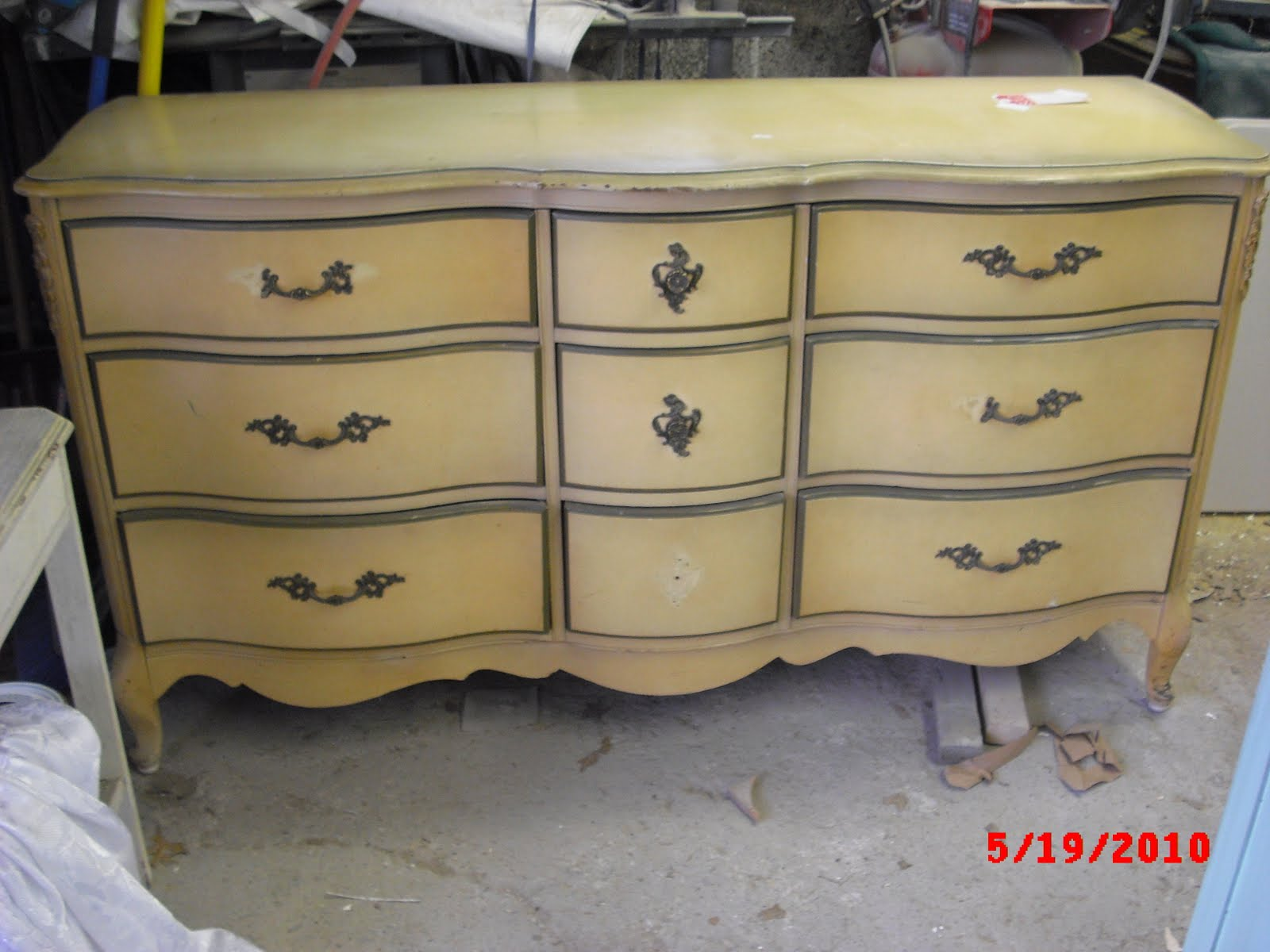 Handpainted french provincial dresser
