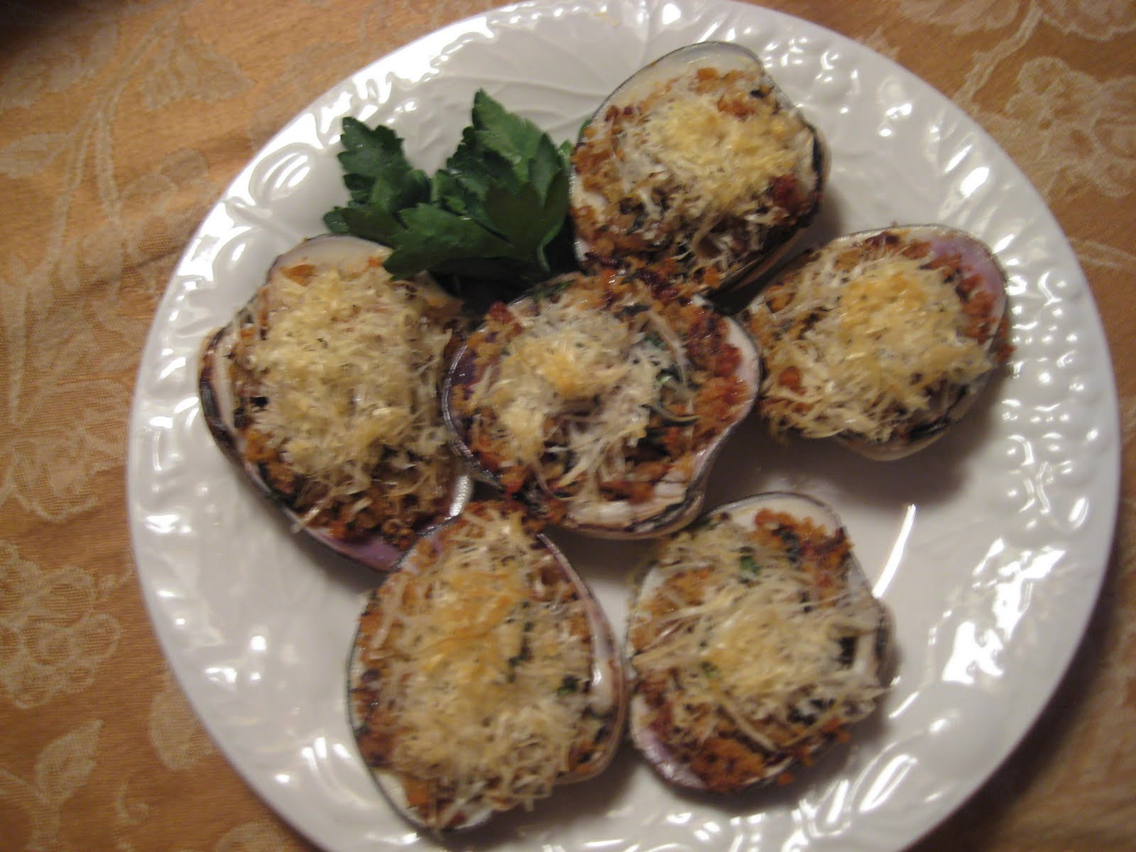 Baked Stuffed Clams Recipe — Dishmaps