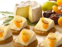 Fruit and Almond Topped Brie