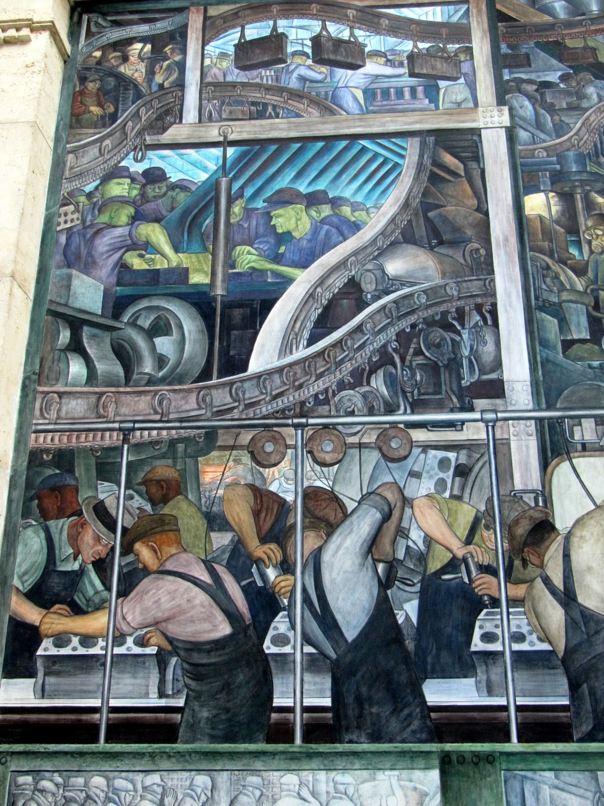 Diego rivera detroit industry mural dia rivet head for Diego rivera detroit mural