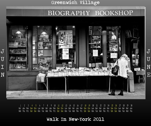 Calendar New York 2011 - 06 June 2011 - Greenwich Village - Biogaphy Bookshop
