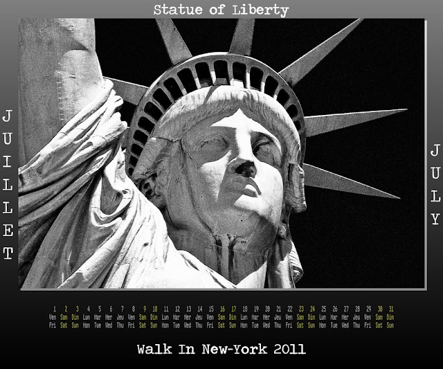 Calendar New York 2011 - 07 July 2011 - Statue Of Liberty