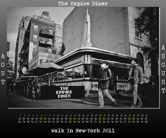 Calendar New York 2011 - 08 August 2011 - The Empire Diner