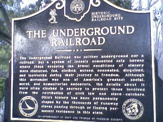 One of the first sites in Ohio Underground RR
