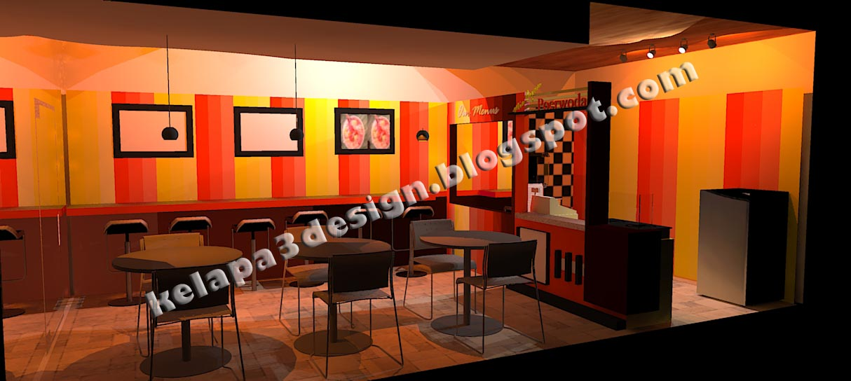 Desain Interior Kitchen Mini Cafe Minimalis Jasa