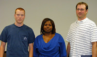 Pictured left to right Keith Burt, Tamika Holloway, and Kevin Robertson
