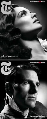 Katie Holmes y Tom Cruise en New York Times T style