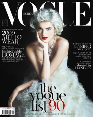 Cover girl… Agyness Deyn Vogue Corea enero 09