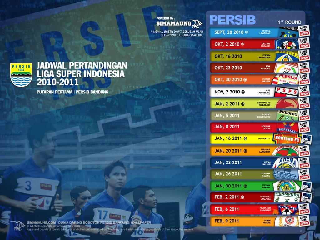 jadwal pertandingan persib bandung di ISL 2010/2011