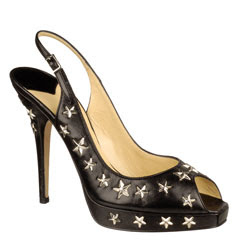 jimmy choo haze star leather flat