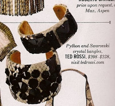 ted rossi python and swarvoski crystal bangle