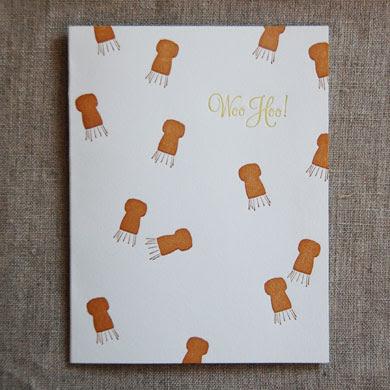 cork congratulations card from linda and harriett
