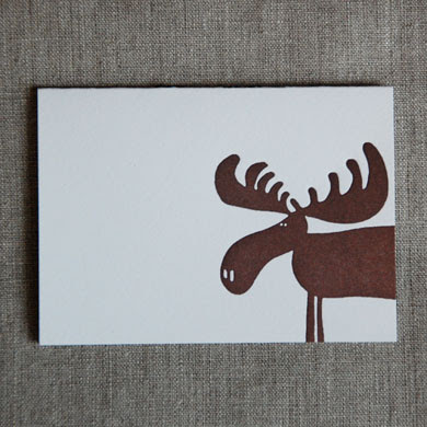 moose note card from linda and harriett