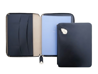 smythson lockable writing folder in black