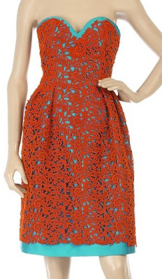oscar de la renta guipure lace dress