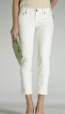 j crew white denim matchstick cropped