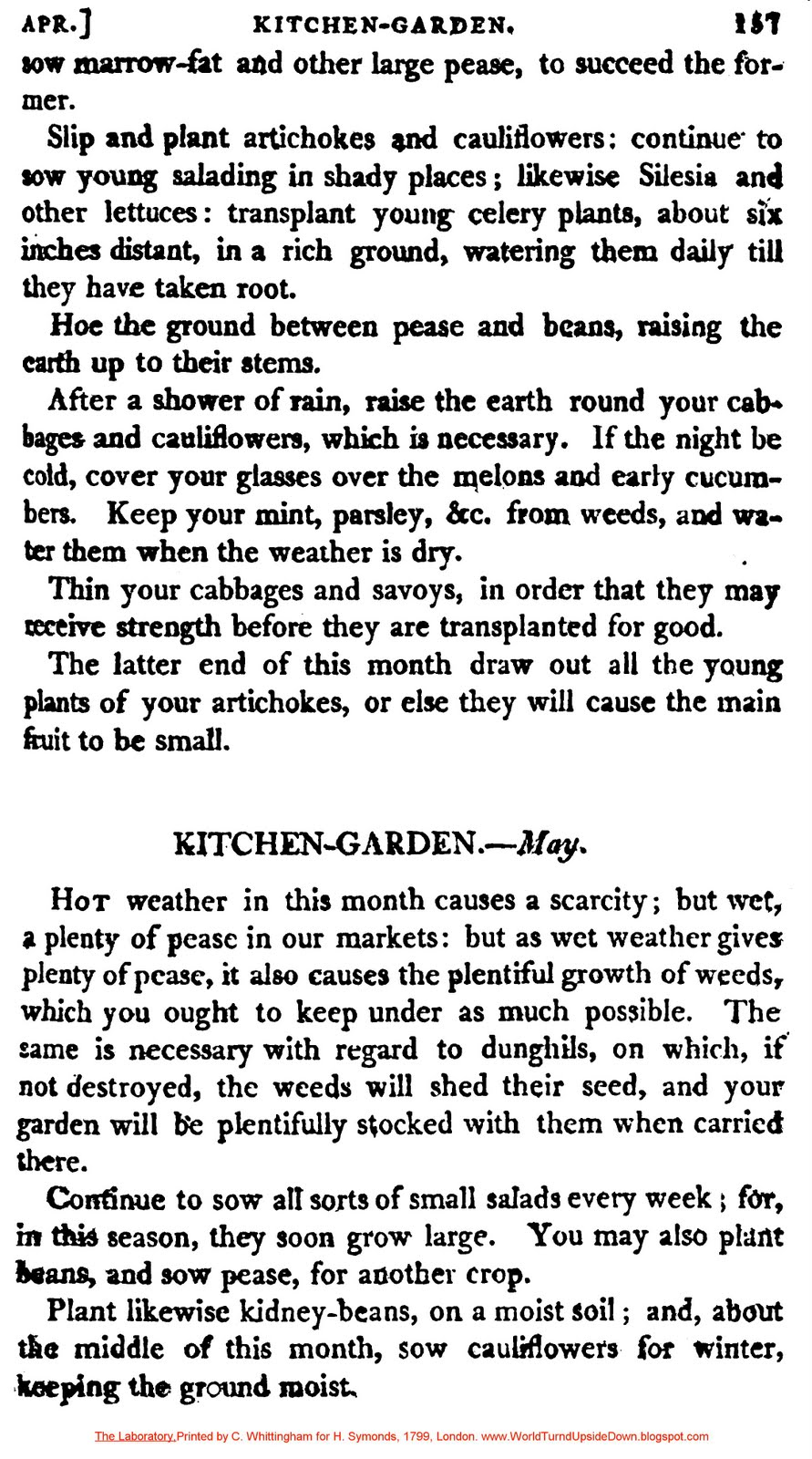 The Victorian Kitchen Garden Dvd World Turnd Upside Down Colonial Kitchen Garden Directions For