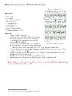 Colonial Recipe