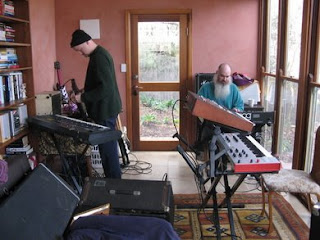 rob and ian setting up