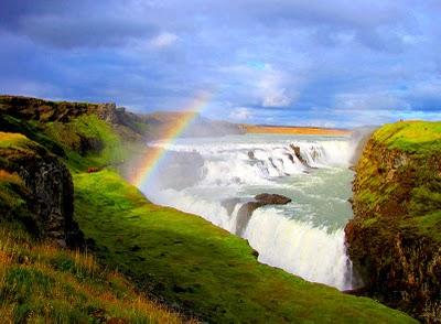 Air terjun terbesar di benua eropah dan tercantik di iceland gullfoss