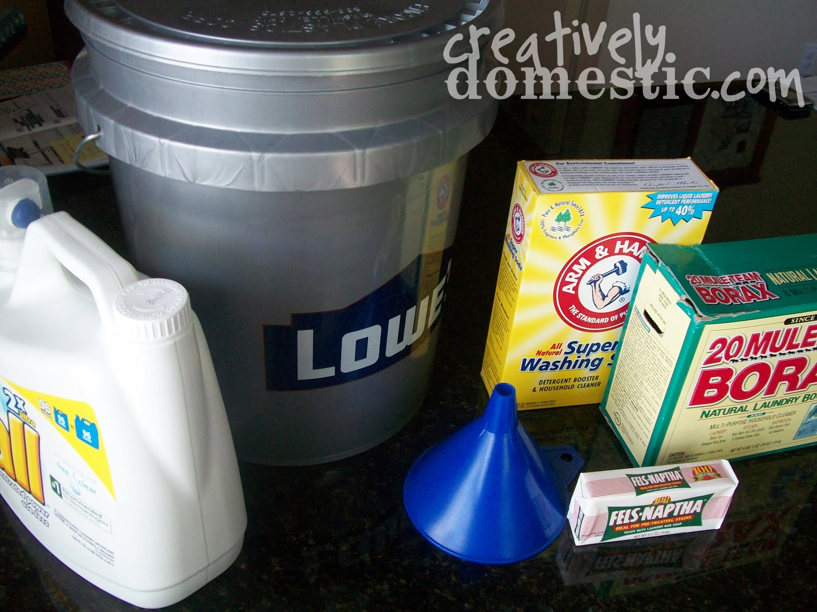 Creatively Domestic Homemade Liquid Laundry Soap