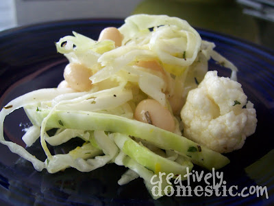 Creatively Domestic: Cauliflower, White Bean and Feta Salad