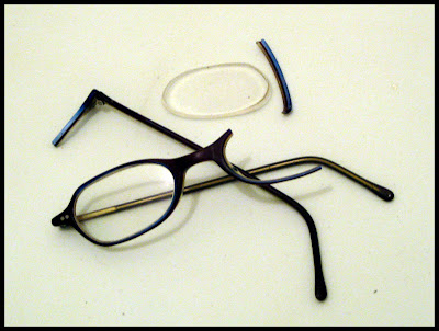 Frame Broke On Glasses : the Garden of Leah: I smashed my eyeglasses today