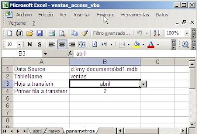 Transferir datos de Excel a Access