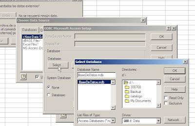 datos de Excel a Access