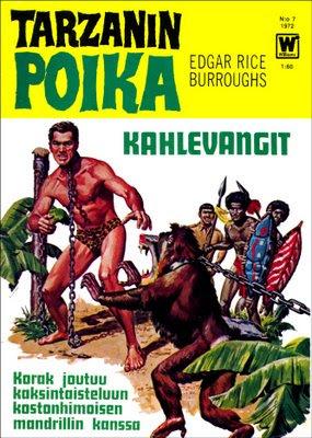 Tarzanin poika 7/1972 - Korak joutuu kaksintaisteluun kostonhimoisen mandrillin kanssa.