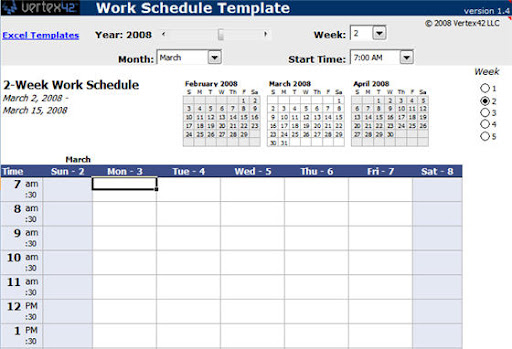 Free Excel template