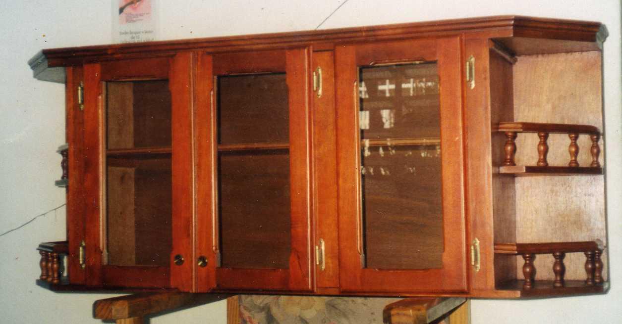 Mis trabajos en madera gabinetas aereos de cocina en for Aereos de cocina