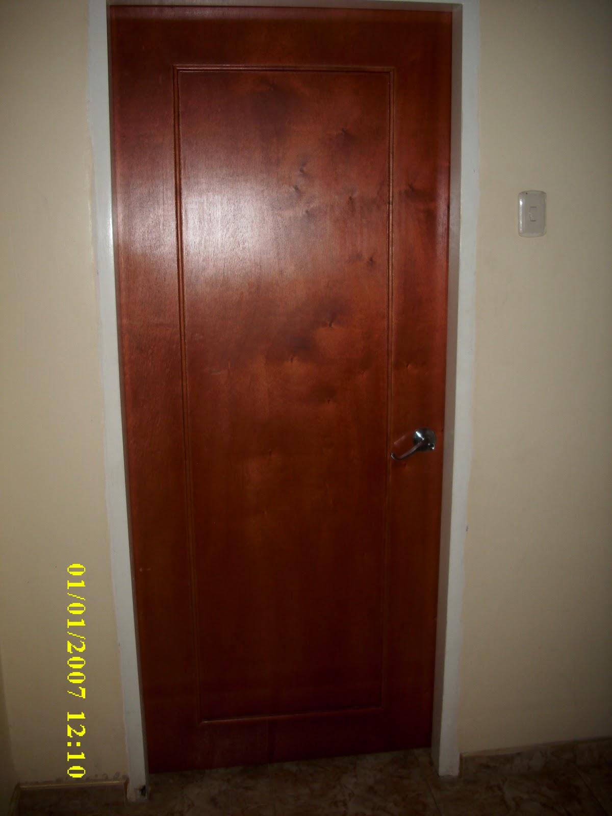 Mis trabajos en madera puerta entamborada en lamina de for Puerta entamborada