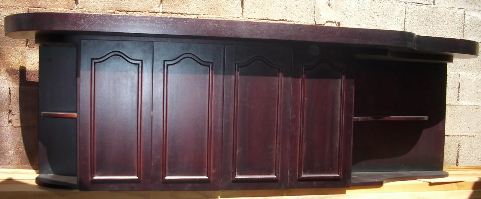 Mis trabajos en madera: Muebles modulares de cocina en marron oscuro