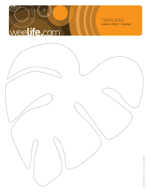 Weelife leafy templates for Jungle leaf templates to cut out