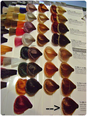 color chart Auburn Hair