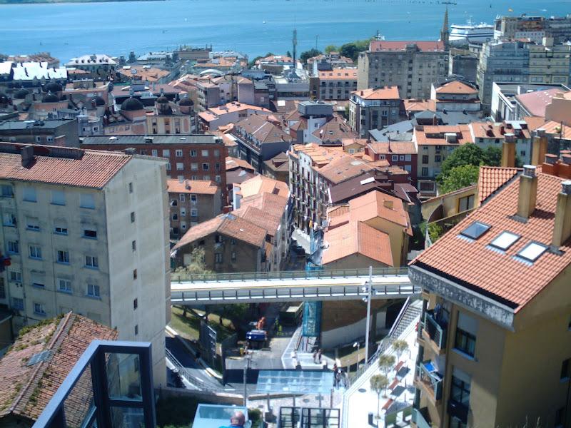 Tejados de Santander desde funicular del Río de la Pila