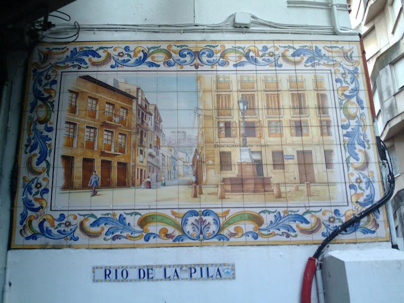 entrada a la calle Río de la Pila en Santander