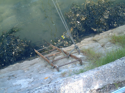 escalera en el agua