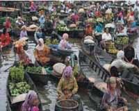 Pasar Terapung Lokasi Kuin Banjarmasin