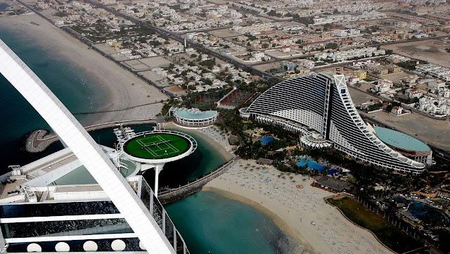 World 39 S Highest Tennis Court At Burj Al Arab Dubai