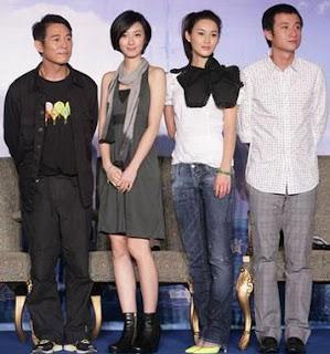 O elenco do filme posa para foto durante a entrevista coletiva: Jet Li, Kwai Lun-mei, Chen Rui e Wen Zhang