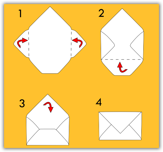 Preferenza Creare busta auguri da foglio a4 - CLP Blog GB73