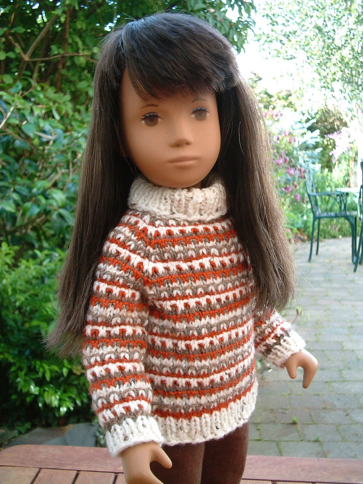 Sasha Doll Style: Sasha Doll Pattern - Slip Stitch Striped ...