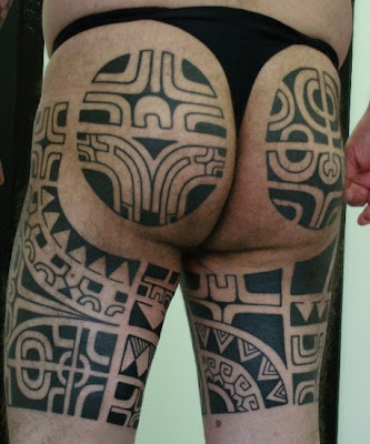 Thigh Tattoo Marquesian