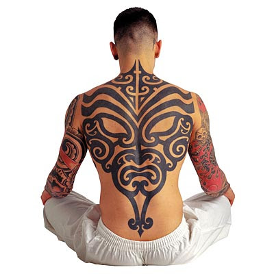 Tribal Tattoo on Back Body