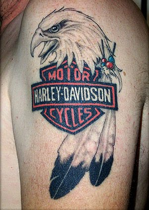 Harley Davidson tattoos style offer a great look and a way to show your