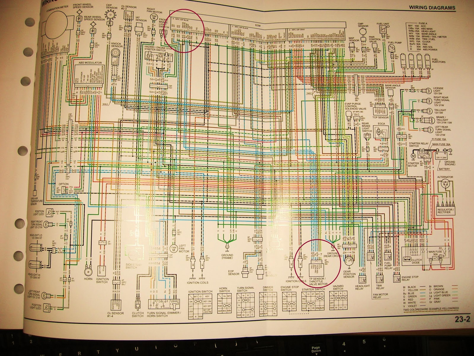 Honda Vfr Wiring Diagram Library Cb750 Furthermore Volt Meter With Shunt