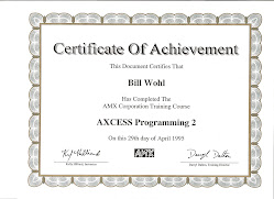 AMX Computer Electronic Certification 1995